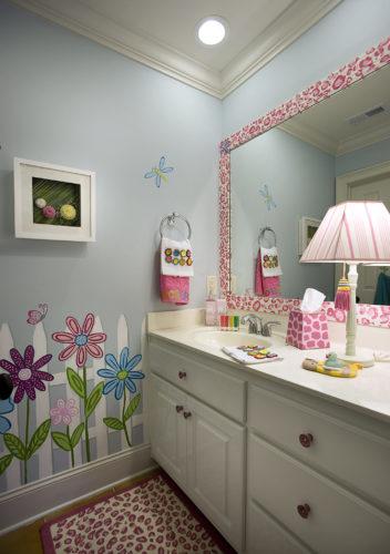 Kids Bathroom Interior Design | Knotting Hill Interior Design | Myrtle Beach, SC