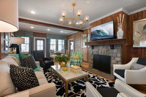 Family Room Interior Design | Knotting Hill Interior Design | Myrtle Beach, SC