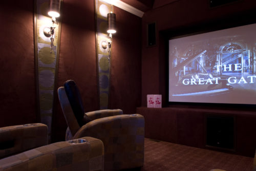 Home Theater Interior Design | Knotting Hill Interior Design | Myrtle Beach, SC