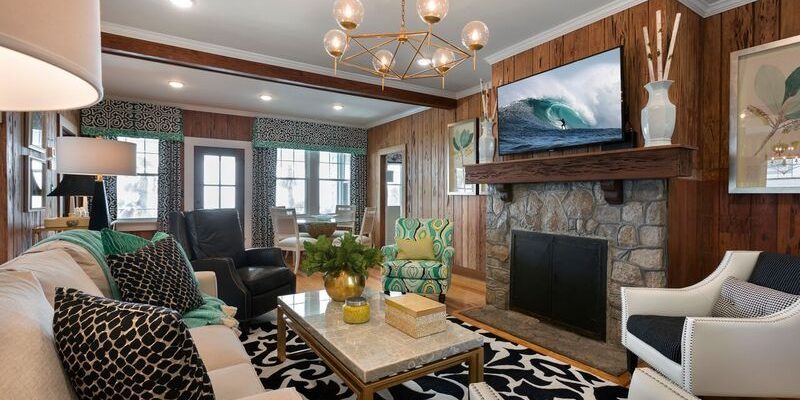 Family Room Interior Design | Knotting Hill Interior Design | Myrtle Beach, SC